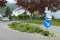 Ortseinfahrt Verkehrslinsen zur Verringerung der Durchfahrtsgeschwindigkeit
