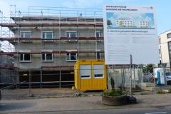 Bau von  15 Sozialwohnungen in der Rheinstraße 145 durch die Baugemeinschaft im Auftrag der Stadt
