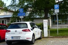 E-Autos der Stadtwerke in der Stadt, hier in Ettlingen-West